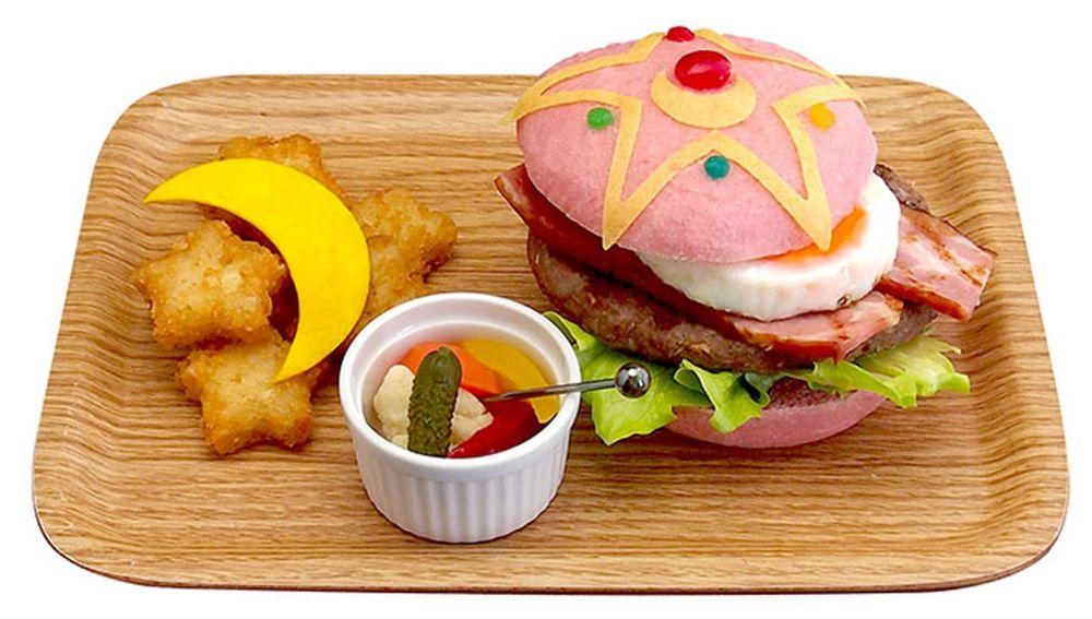 hamburguesa rara rosa