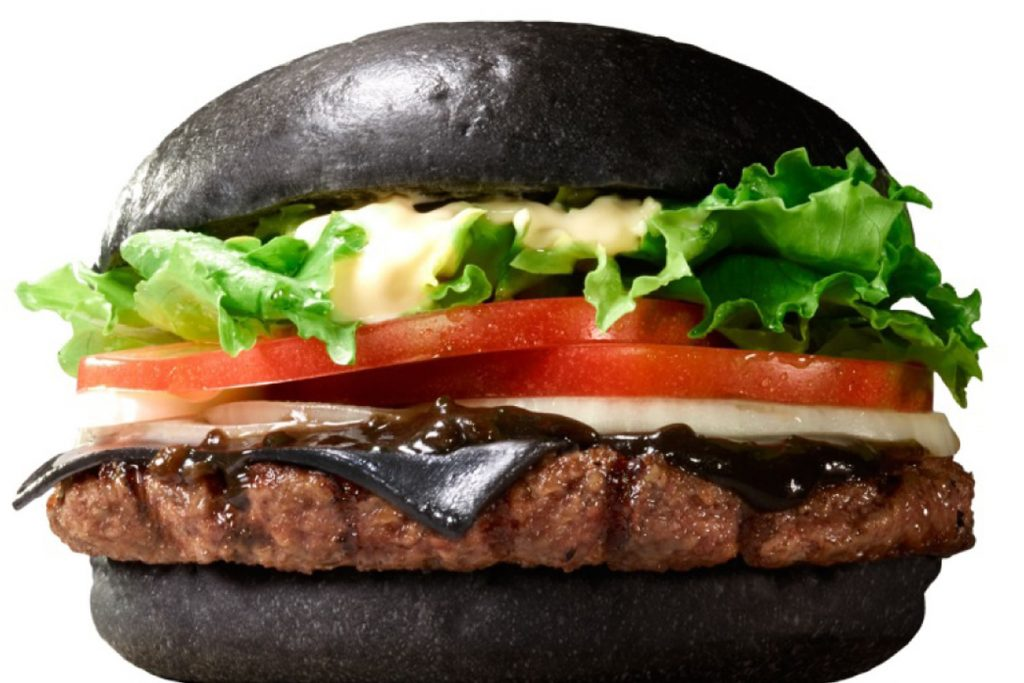 hamburguesa rara negra