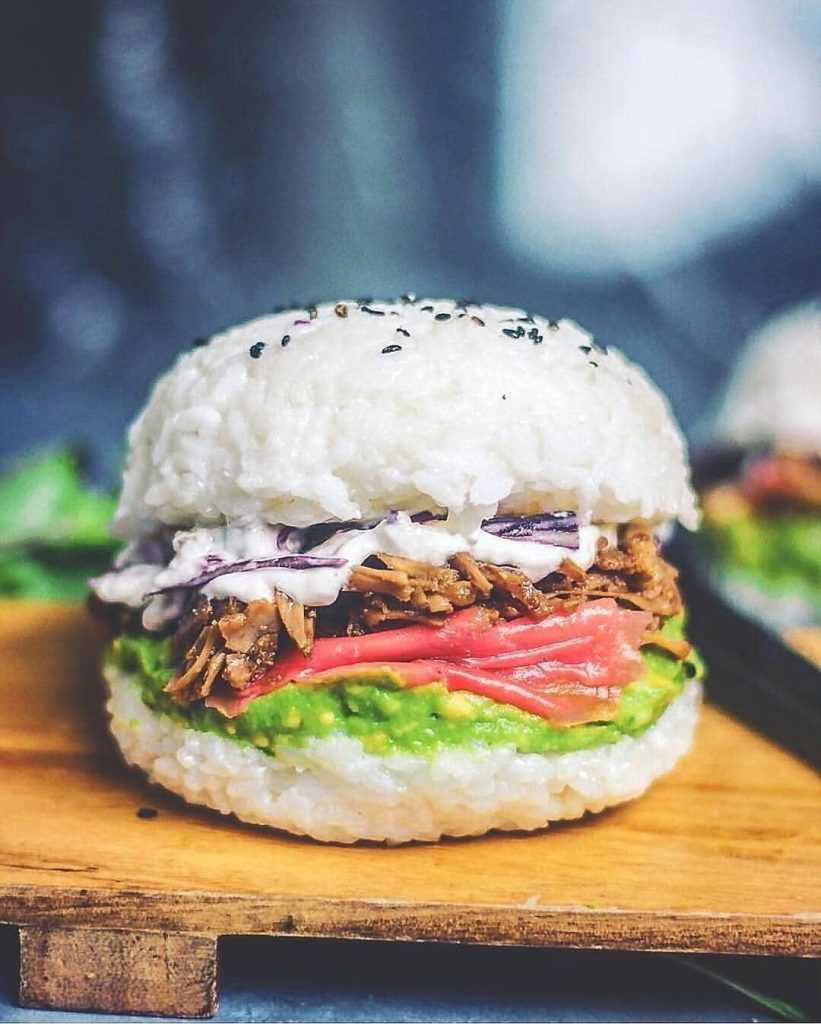 hamburguesa rara sushi burguer